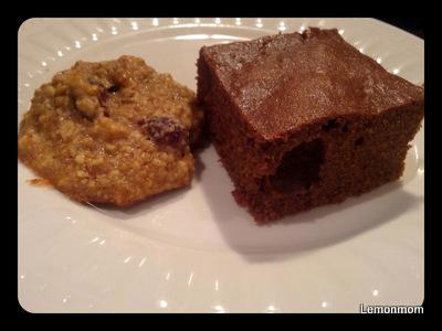Brownie i ciasteczko migdałowe