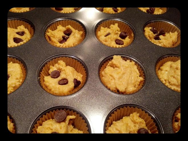 Bezglutenowe muffinki kokosowe z kawałkami czekolady
