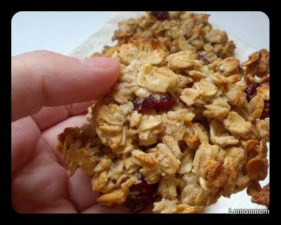 Ciasteczka owsiano-żurawinowe